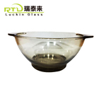 Hot Sale Promotional Gifts Custom Logo Brown Glass Salad Rice Bowl Pudding Soup Bowl Set