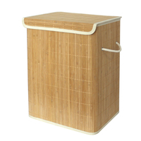 2020 Household using good quality and cheap folding bamboo laundry basket novelty laundry hamper