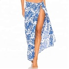 OEM Design Women Customized Printed Sarongs Wholesale Sarongs Beach Custom Rayon Sarong
