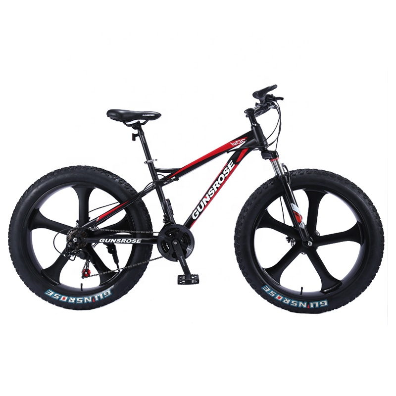 4.0 ไขมันยาง Mountain จักรยานจักรยานเบรคสูงคาร์บอนเหล็ก 7/21/24/24 speed จักรยานจักรยานเสือภูเขา 26 นิ้ว