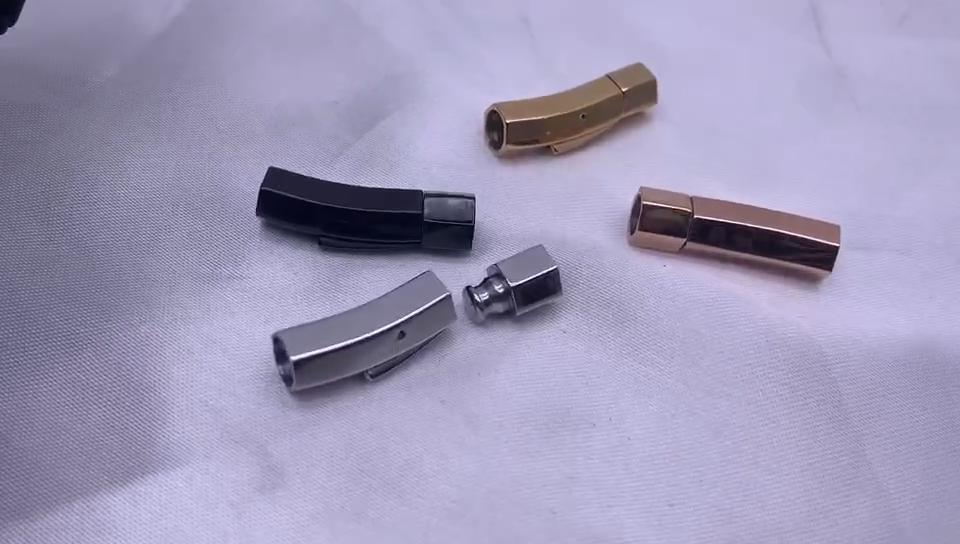 האחרון חדש תכשיטי אביזרי אבזם עבור חור 4/5/6mm גודל חוט עור