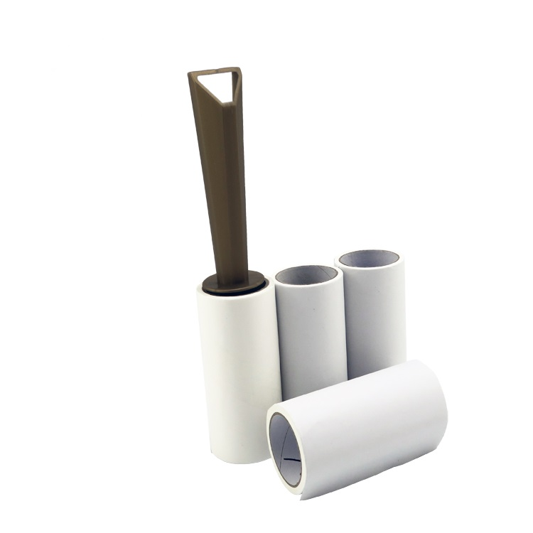Promotionele cover gedrukt sticky papier lint Roller set voor Cleaning floor