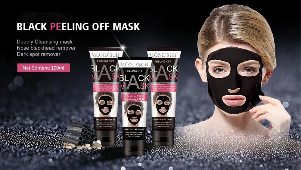 MOND'SUB nettoyage en profondeur du charbon de bambou décollement de la tête Shills masque noir