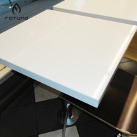 Texture acrylic artificial solid surface quartz stone table top