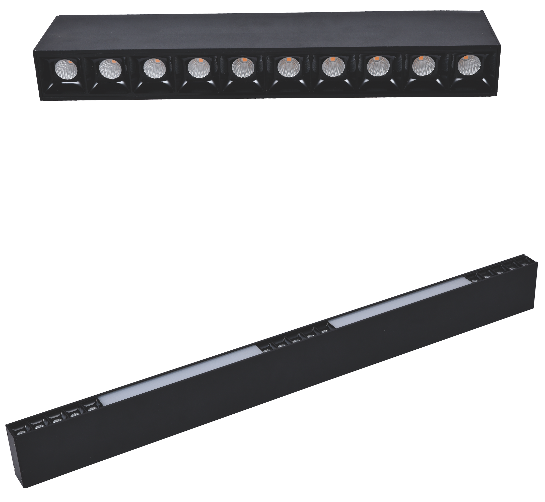 Modern surface mounted magnetic led track light system for shop home application