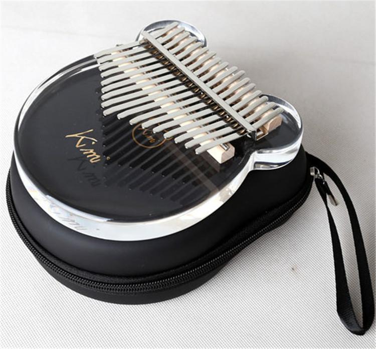 Kimi 17 schlüssel kalimba kristall acryl daumen klavier Musical Instrument für Anfänger