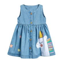 Little maven Baby Дети Девушки Животное Бабочка Цветочное Платье 2020 Лето Модные Элегантные Платья Малыша Девушки Карманная Одежда(Китай)