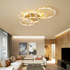 New Product 2020 Home Lighting Aluminum 5 Circle Modern Office And Living Room Circle Ceiling Lamp Bedroom Led Ceiling Lights