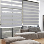 day and night window roller double zebra blinds sheer shade blackout black blinds