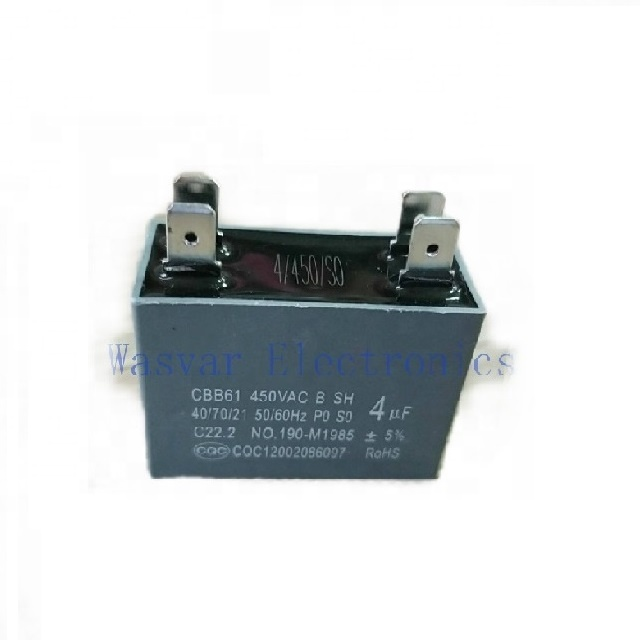 CBB61 4uf 450V ac air conditioner capacitor motor starting capacitor for sale (other capacitances on request) 1-100uf
