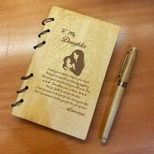 Персонализированный Деревянный блокнот для планера, дневник, день рождения, Рождество, годовщина, подарки, записная книжка(Китай)