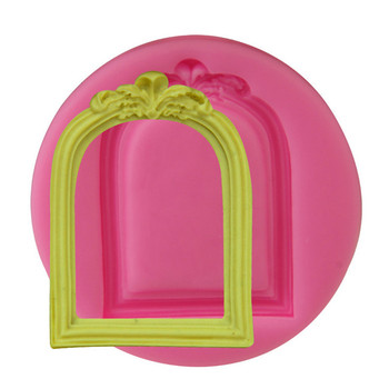 New design elegant frame shaped silicone cake mould DIY handmade cake decorating tools