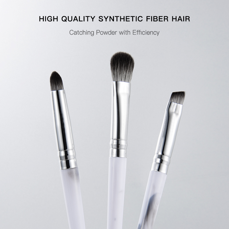 Marble flow pattern synthetic makeup brushes 2020 new style professional makeup brush set