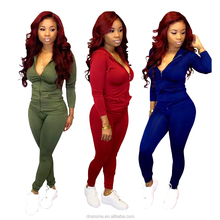 MT03-1113 Sexy Velvet Tracksuit Women Long Sleeve Cropped Hoodie and Pants Two Piece Set 2019 Autumn Winter Sweat Suits