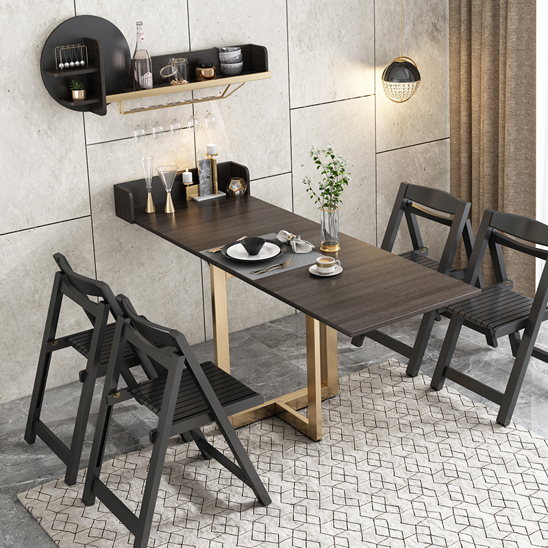 Apartment Furniture Black Wall Mounted Rack Folding Mini Flat Dining Table Buy Mini Flat Dining Table Wholesale Living Room Deformable Dining Table Jasiway Space Saving Foldable Dinner Table For Sale Product On Alibaba Com