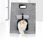 Yangyang Pet Portable Foldable Pet Travel Carrier 3 in 1 Multifunctional Wool Nest Walking Bed Bag Soft Felt Cat Cave