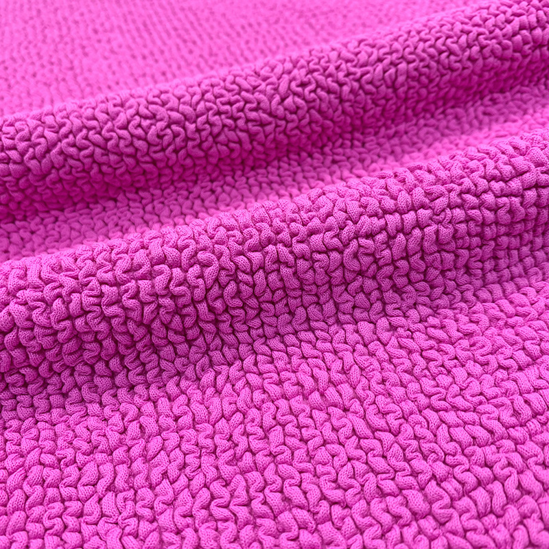 Hot selling customized color Good stretch Seersucker Crinkle Fabric for swimwear