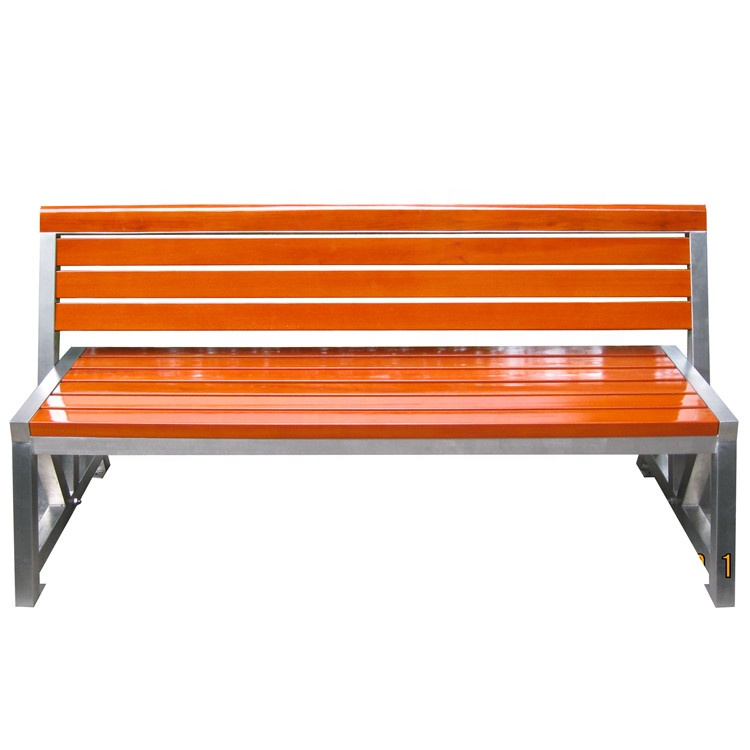 L1.5m garden seats benches stainless steel frame
