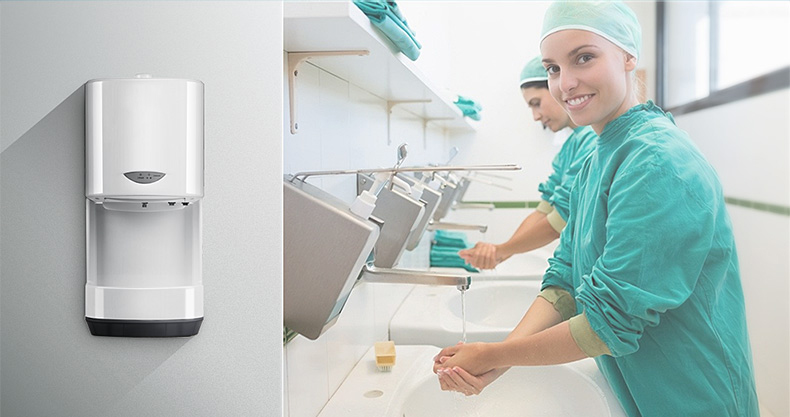 MJ-3000 hospital wall-mounted auto electronic alcohol spray hand wash sanitizer dispenser