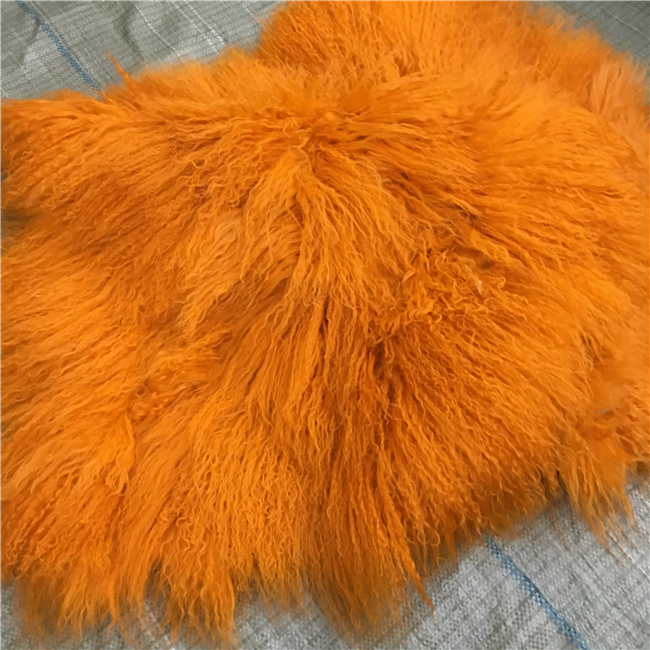 120x60cm comfortable thick mongolian fur throw blanket fur rug
