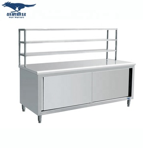 Chinese Stainless Steel High Quality Kitchen Cabinet With Shelf and Drawer