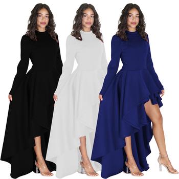 Women Fashion Plus Size M 3xl Long Sleeve Dress Top Christmas Party Cute Irregular Hem Club Trendy Western Wear Tosrs00078 Buy 2xl 3xl Plus Size Long Sleeve Winter Fashion Tops For Fat