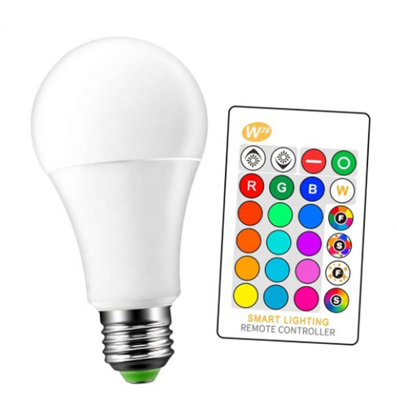 E27 3W 5W 9W Indoor Bedroom rgbw bulb lamps Atmosphere 16 Color changing rgb led light bulbs