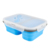 2 compartments Collapsible Folding Silicone Food Storage Container bento Lunch Box