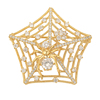 brooches-682 xuping new design zircons gold spider web brooch pin