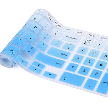 Universal Computer PC Keyboard Cover for Standard Size Desktop Keyboards Ultra Thin Waterproof Anti-Dust Silicone Protector