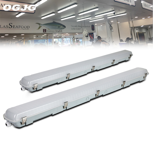 2x36 IP65 triproof luz fluorescente accesorios 600mm Tubo T5 batten luz IP65 led impermeable led tubo iluminación