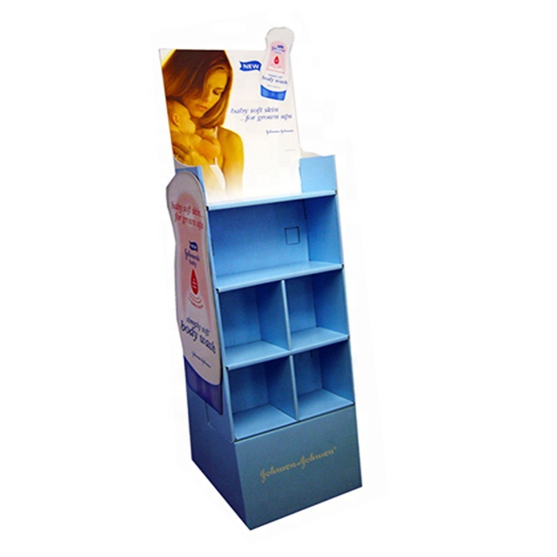 Custom Cardboard Cosmetic Display Rack / Cosmetic Display Case