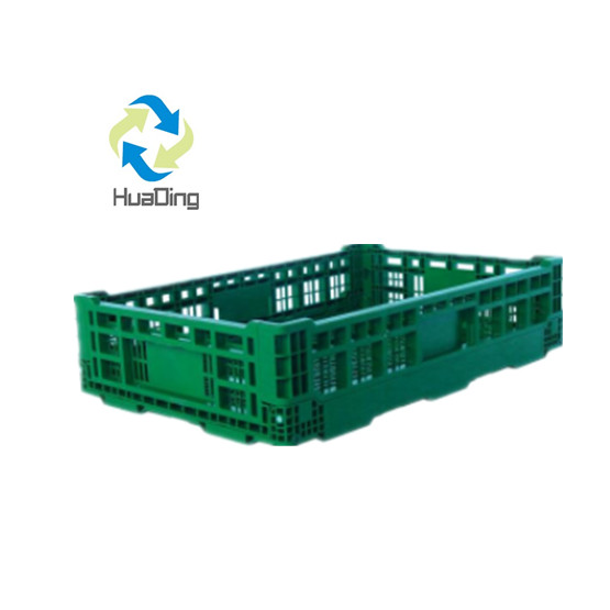 Collapsible plastic crate customized, recyclable plastic folding crate