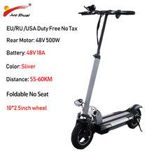 48 в 500 Вт Электрический скутер на дальние расстояния с сиденьем 100 км/ч мощный аккумулятор 10 дюймов Электрический скейтборд Patinete Electrico Adulto(Китай)