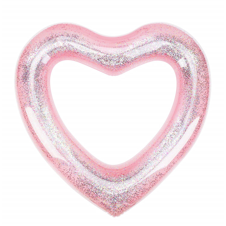 MoKo 120cm PVC Fashion Inflatable Party Glitter Swimming Ring for Kids Adults