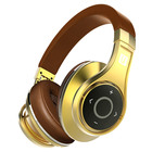 HF Gold Color Bluetooth V4.1 Foldable game Bass Wireless earphones
