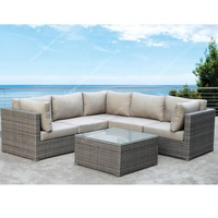 Classic factory PE wicker outdoor furniture rattan garden L shape sectional sofa set for patio use