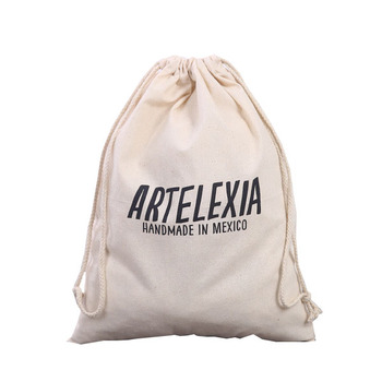 Organic Cotton Canvas Drawstring bag customized logo
