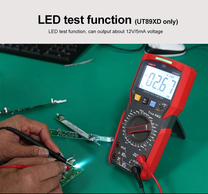 UNI-T UT89X UT89XD Professional Digital Multimeter True RMS NCV 20A Current AC DC Voltmeter Capacitance Resistance Tester UT89X