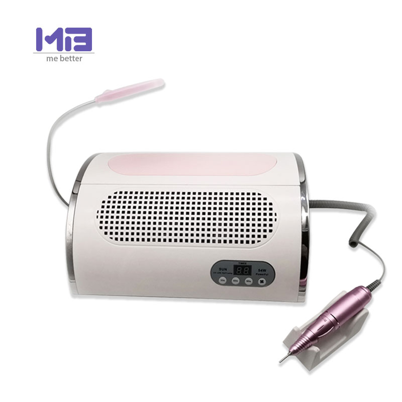 72W powerful 5 in 1 multifunction nail dust collector vacuum cleaner drill machine / LED UV lamp