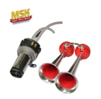 12V/24v motor electric air horn 2 pipes air horns for truck, car, bus