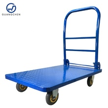 Folding platform trucks industrial trolley cart mute push cart manufacturer
