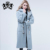 Horn Button long sheep shearing fur coat winter sheep fur overcoat