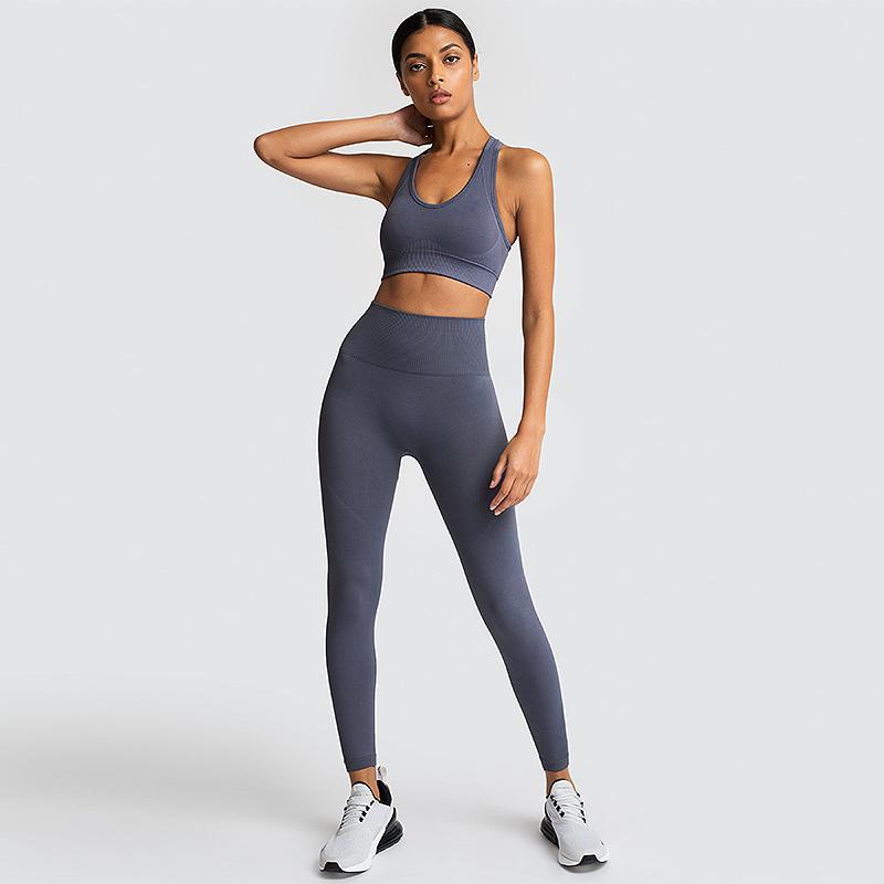 2021 Seamless Underwear Sexy Panties Women Yoga Bra Set High Waist Sports Fitness Gym Active Wear