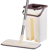Professional Home Cleaning Tools Adjustable Magic Floor Cleaning Mops Cheap Flat Floor Mop Set with Plastic Mop Bucket