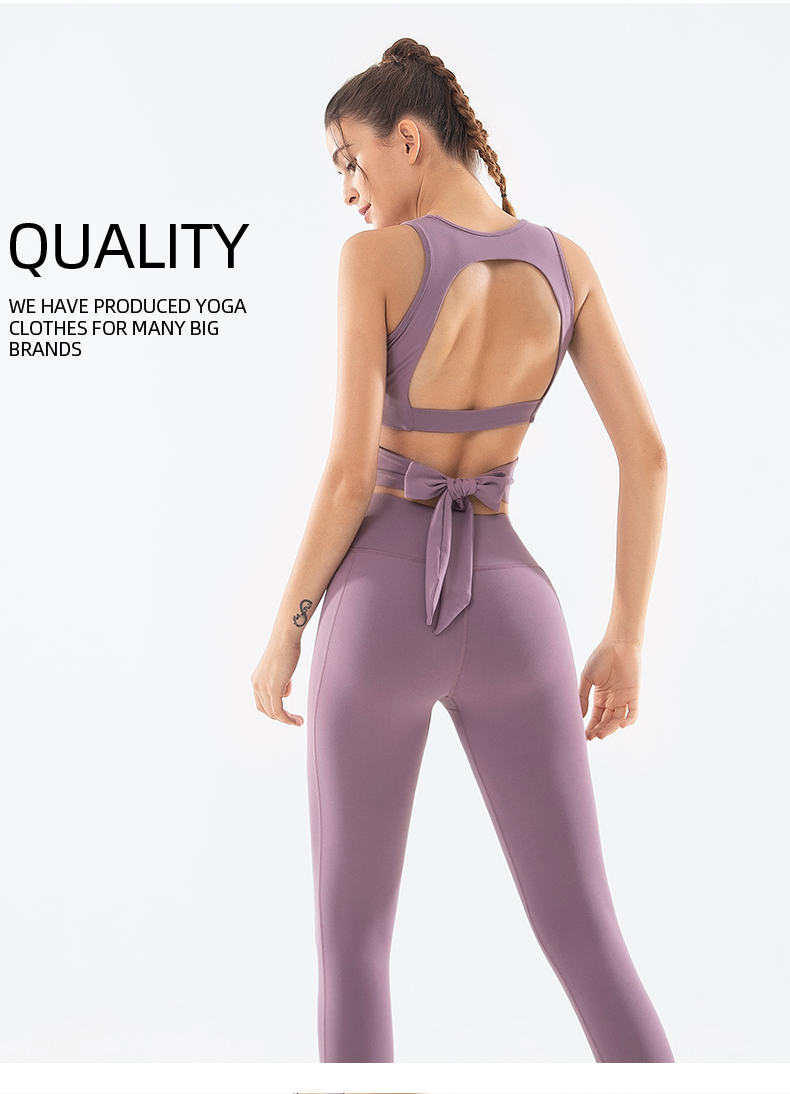 Amazon hot sellers women yoga pants and sports bra lulu sportswear gym clothes wholesale fitness clothing