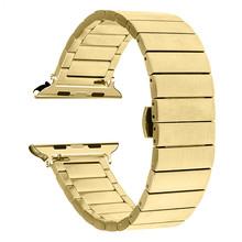 Сменный ремешок из нержавеющей стали для Apple Watch 44 мм, ремешок iwatch 5 4 40 мм, аксессуары для умных часов, петля 42 мм 38 мм(Китай)