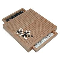 High quality Wood chinese chess GO Set with Pull Out Drawers -12 in.