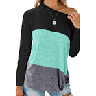Wholesale New Fashion Women Crew Neck Blouse Long Sleeve Women Tunic Tops