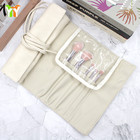 PU Leather Makeup Brushes Set Case Travel Makeup Pouch Roll Bag